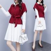 襯衫套裝裙女 2020初春秋新款韓版時尚氣質兩件套洋裝洋氣連身裙 YN4146『易購3c館』