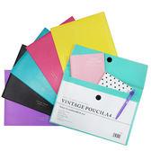 韓風復古糖果色透明A4文件夾 乙入(隨機出貨,不挑款) ◆86小舖◆