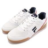 FILA 休閒鞋 C301S 白 黑 世足系列 基本款 鞋面皮革 復古 男鞋【PUMP306】 1C301S101