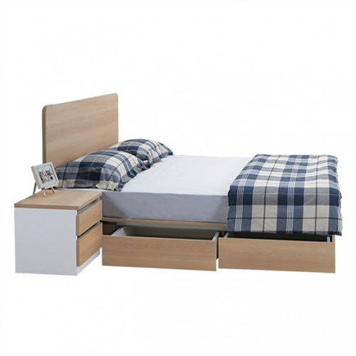 艾美爾系統床組 / 雙抽屜6尺床底 / 北美橡木 【HG】