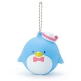 〔小禮堂〕山姆企鵝 大臉造型軟掐矽膠有聲吊飾《藍白》掛飾.鑰匙圈 4901610-63030