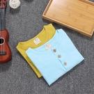 兒童竹節棉上衣 兒童短袖T恤夏裝薄款男女童竹節棉半袖寶寶休閒寬鬆上衣-Ballet朵朵