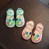 聖誕好物85折 純手工兒童鞋寶寶千層底嬰兒布涼鞋夏季女童公主款軟底防滑