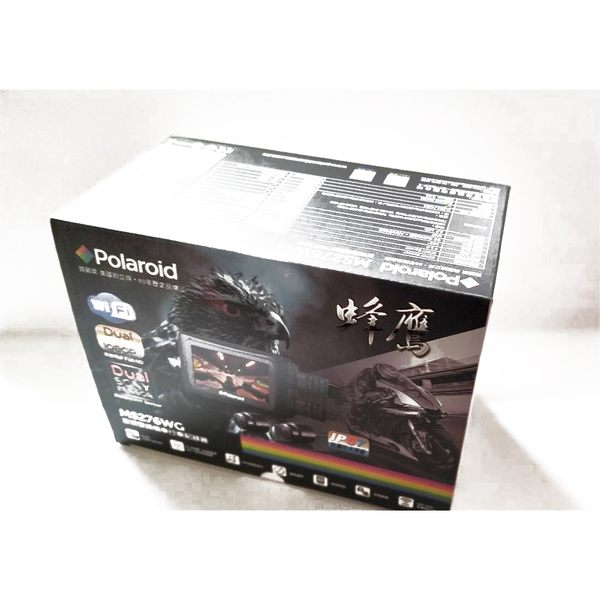 Polaroid 寶麗萊 MS276WG【附32G 送TCOM機車用藍芽】MS 276 WG 蜂鷹 重機車 夜視雙鏡行車記錄器