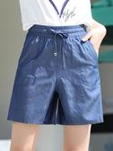 五分褲天絲牛仔短褲女夏季2020新款大碼寬鬆休閒顯瘦百搭闊腿五分褲子女 雙11 伊蘿