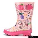 外貿原單兒童雨鞋可愛粉色水鞋防滑男孩女孩中筒休閒雨靴6-9【快速出貨】