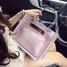 果凍包2020韓版新款內膽果凍透明包包女手提百搭復古包網紅鏈條斜背女包 萊俐亞