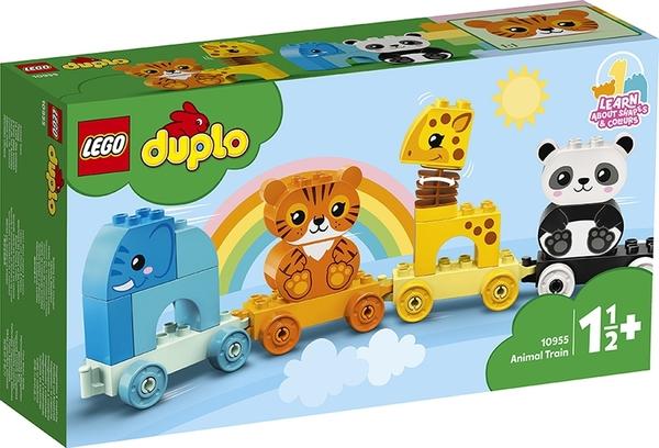 【愛吾兒】LEGO 樂高 duplo得寶系列 10955 動物火車