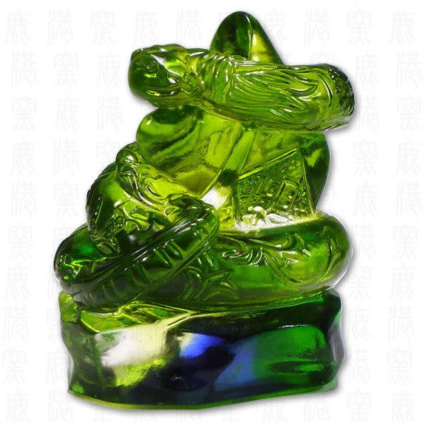 鹿港窯-居家開運商品-琉璃SS十二生肖文鎮-蛇-附精美包裝◆免運費送到家