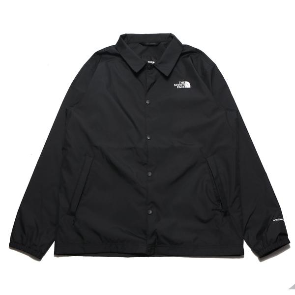 THE NORTH FACE 外套 黑色 教練外套 背後LOGO 休閒 防風外套 男(布魯克林) NF0A4U8WJK3