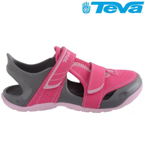 TEVA Kids女童護趾水陸運動涼鞋Barracuda sport - 粉紅(小童)