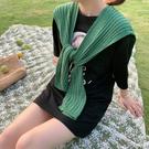 圍巾 搭肩小披肩秋季外搭冬季針織披肩打結夏季圍巾女秋冬披肩圍脖 多色
