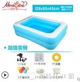嬰兒童遊泳池充氣家庭加厚家用小孩嬰兒大人寶寶超大戶外大型充氣泳池 創時代YJT