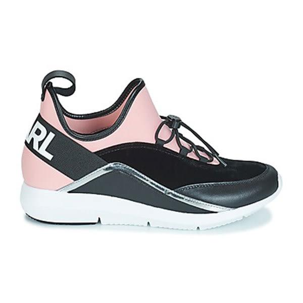 Karl Lagerfeld 卡爾 老佛爺 鞋 VITESSE 襪套流線休閒鞋-粉