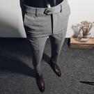 西褲男士九分西服褲商務正裝職業休閒小腳西裝褲子男韓版修身潮流 聖誕節交換禮物
