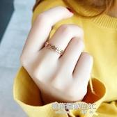 戒指古風chic戒指女不掉色日韓尾戒潮人小指學生玫瑰金個性復古風指環 凱斯盾