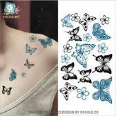 蝴蝶 防水 紋身 貼紙 小清新 刺青 紋身貼