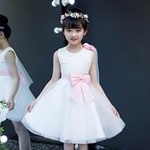 女童禮服 女童洋裝夏裝兒童舞蹈服洋氣公主裙夏季蓬蓬紗禮服裙小女孩裙子-Ballet朵朵