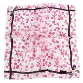 CLATHAS花卉圖案純綿帕領巾(粉紅色)989265-13