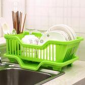 廚房瀝水碗架塑料碗碟架收納置物架碗柜碗筷架子落地收納架【格林世家】