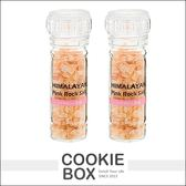 日本 大同研磨器 調味鹽  喜馬拉雅粉紅鹽100g *餅乾盒子*