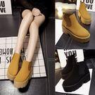 粗跟短靴-歐美厚底舒適圓頭女馬丁靴2色73is6【時尚巴黎】