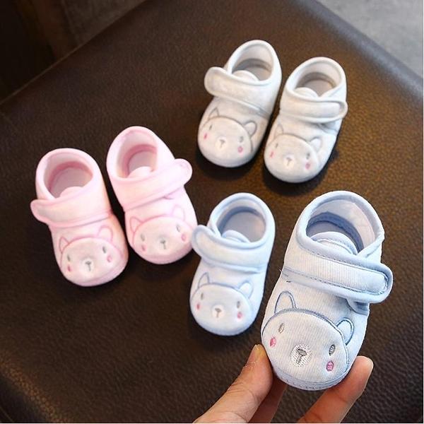 學步鞋 寶寶學步鞋6-12個月春秋冬季0-1歲男女嬰兒鞋布軟底防滑新生不掉3 維多原創