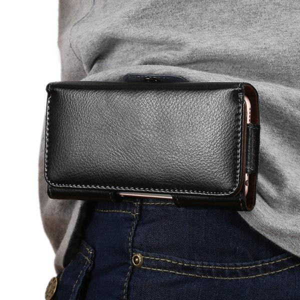 (交換禮物 創意)聖誕-手機掛腰包皮套穿皮帶4.7寸5.2寸5.5寸6寸通用薄殼男老年人