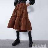 8475201新款ZA家女裝塔夫綢及膝裙不規則顯瘦半身裙08475201700 「錢夫人小鋪」