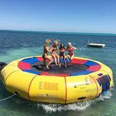 充氣水上蹦床3米加剛圈浮台跳床水上樂園玩具設備漂浮彈跳成人兒童戶外易航gio