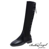 長靴 馬甲穿帶造型長筒靴(雙拼黑)*BalletAngel【18-116-1bkr】【現+預】