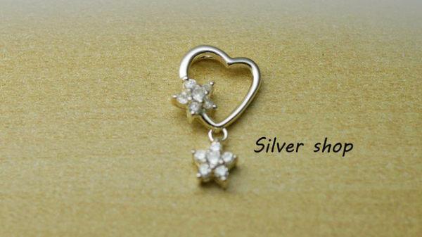 ╭☆ Silver shop ☆╯純銀 墜子 (單墜) 不含項鍊 [ sp 015 ]