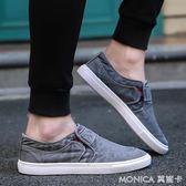 水洗帆布鞋韓版潮鞋休閒鞋透氣布鞋老北京男鞋子 莫妮卡小屋