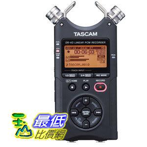 [103 美國直購] TASCAM DR-40 4-Track 數字錄音機 Portable Digital Recorder $9449