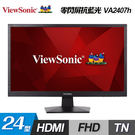 【ViewSonic 優派】24型 HD...