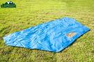 LOWDEN 超耐磨夾層前庭延伸地墊/野餐墊(兩用地墊) 300x150 cm (藍色) 切角款