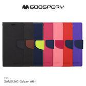 GOOSPERY SAMSUNG Galaxy A6+ FANCY 雙色皮套 可立 磁吸 插卡 側翻 保護套 手機套