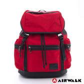 AIRWALK BOXER 尼龍防水綁帶大後背包(紅) NO.A635320442