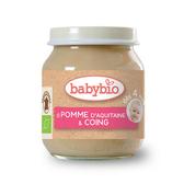 BABYBIO 有機蘋果莎梨鮮果泥/果泥130ml-法國原裝進口4個月以上嬰幼兒專屬副食品