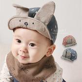 韓國復古色大兔耳軟簷棒球帽 大兔耳 造型印花帽