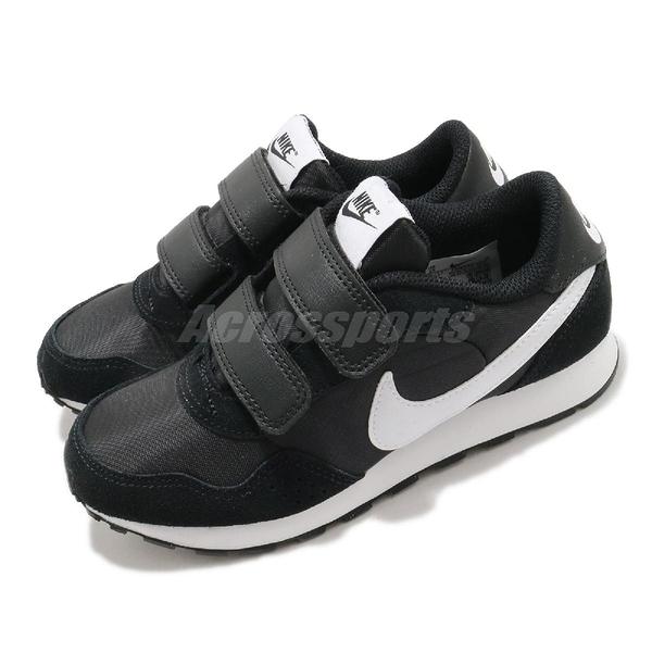 Nike 休閒鞋 MD Valiant PSV 黑 白 童鞋 中童鞋 魔鬼氈 小朋友 【ACS】 CN8559-002