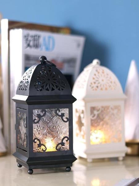 蠟燭台復古鐵藝家用裝飾燭台擺件北歐浪漫燭光晚餐道具【快速出貨】
