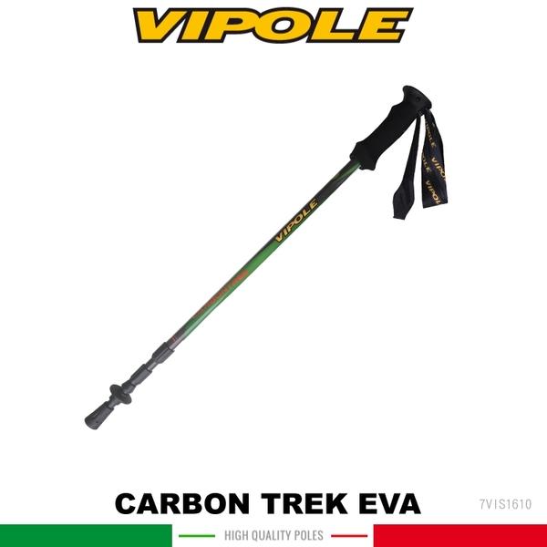 【VIPOLE 義大利 CARBON TREK Eva PLUS 登山杖《綠》】S-1610/手杖/爬山/健行杖★滿額送