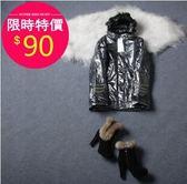 外套【2092】FEELNET中大尺碼女裝秋冬裝新款連帽款棉衣加厚外套 46碼