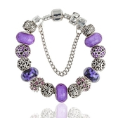 串珠手環-高貴唯美紫色系列琉璃飾品女配件73kc294【時尚巴黎】