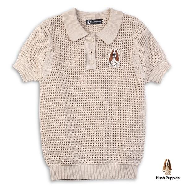 Hush Puppies 線衫 女裝簍空兩件式針織短袖線衫(附內搭背心)