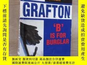 二手書博民逛書店外文書罕見SUE GRAFTON B IS FOR BURGLAR(共211頁,32開)Y15969