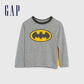 Gap男幼童 DC英雄主題圓領長袖(帶披風) 617864-灰色
