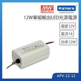 明緯 12W單組輸出LED光源電源(APV-12-12)