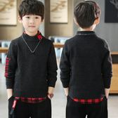 男童毛衣男童毛衣外套大童男裝秋冬裝小學生男孩兒童衣服
